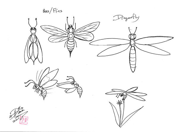 Draw Insect Wings by Diana-Huang
