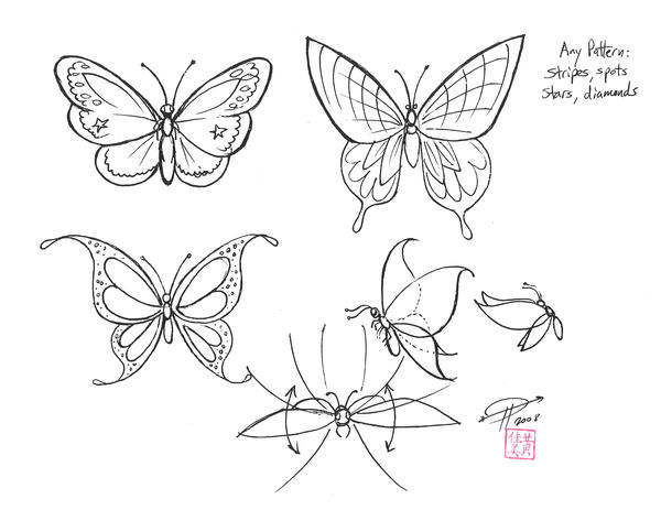Line Drawing Butterfly Tattoo : Draw butterfly wings by diana huang on deviantart