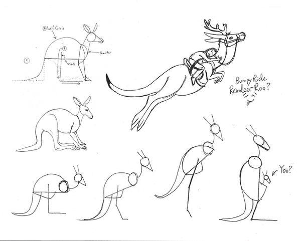Line Art Kangaroo : Draw a kangaroo by diana huang on deviantart