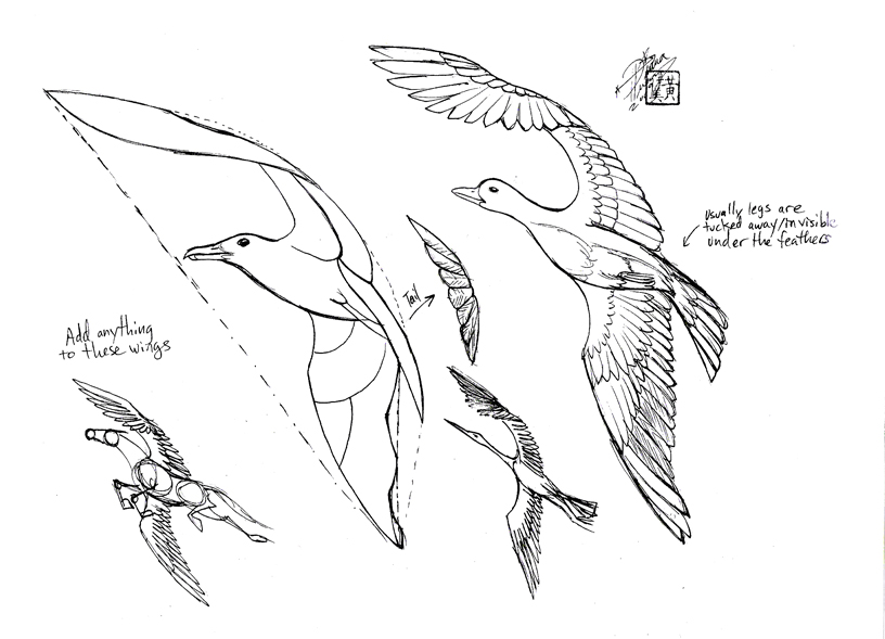 how to draw bird legs