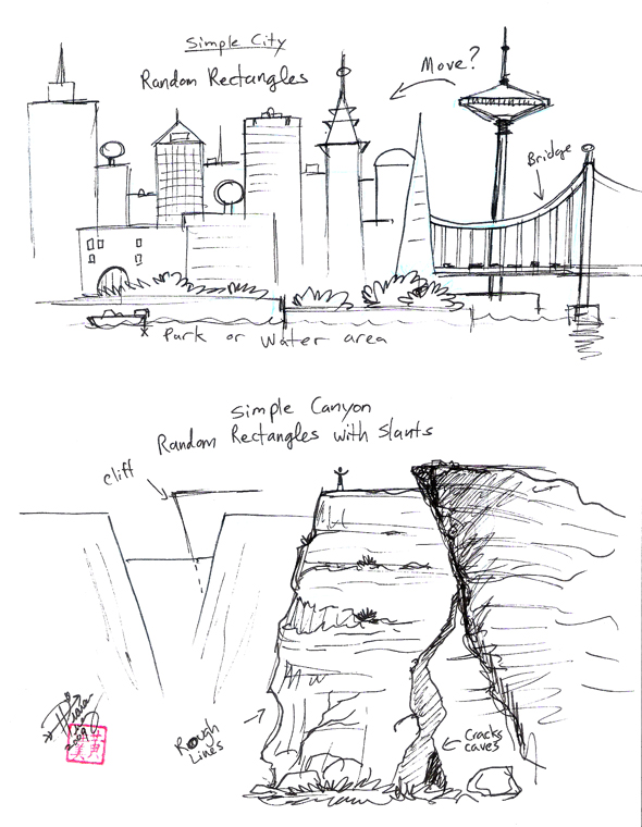 how to draw a basic city