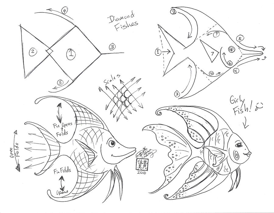 how to draw different fish