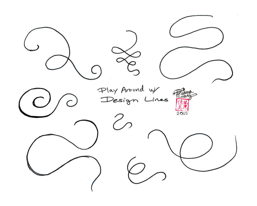 Line Art Exercises : Flowing line exercises by diana huang on deviantart