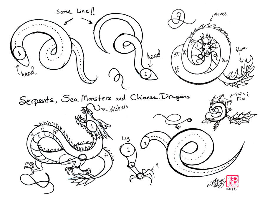 How To Draw A Chinese Dragon Easy Step By Step | www ...