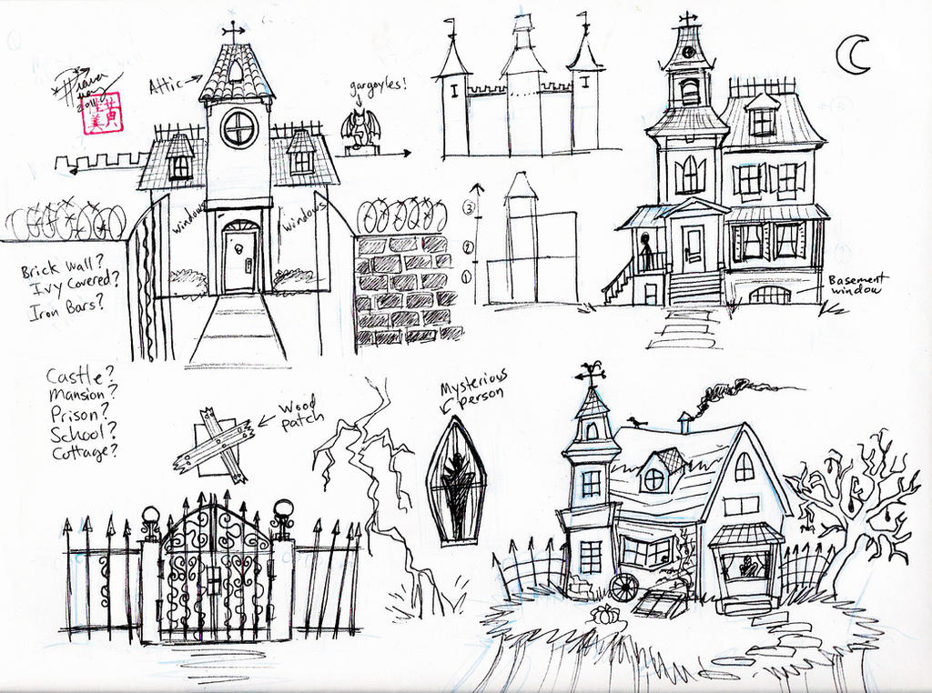 Draw a Haunted House by Diana-Huang on DeviantArt