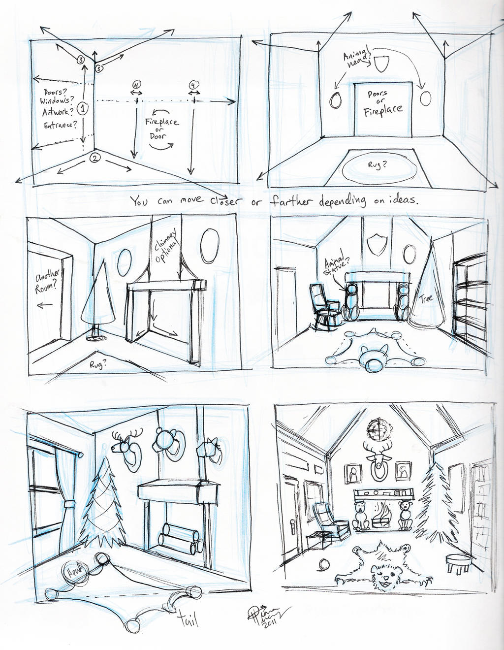 Bedroom Drawing: Draw A Room By Diana-Huang On DeviantArt