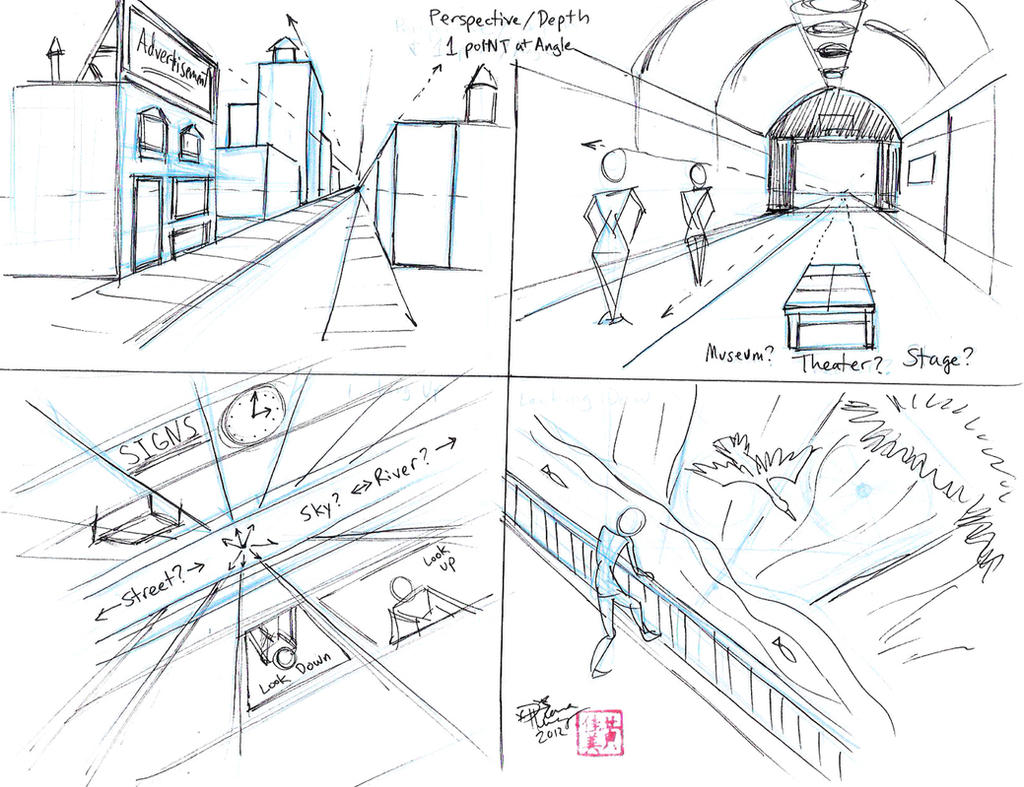 One Point Perspective and Depth p2 by Diana-Huang
