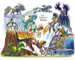 Elemental Horses - colored