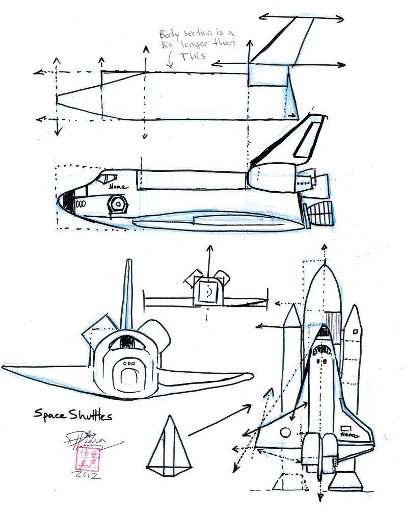 Draw a Space Shuttle by Diana-Huang on DeviantArt