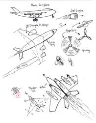 Draw Airplane and Jet by Diana-Huang