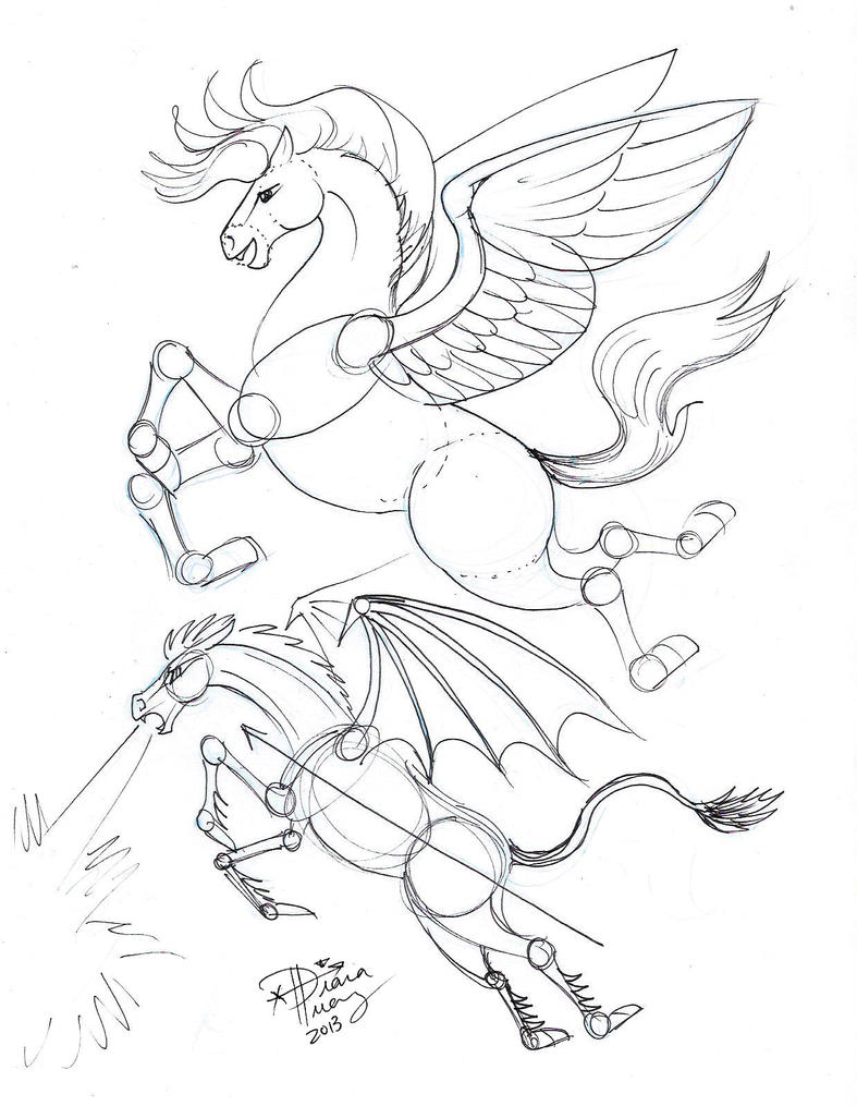 draw flying horse by diana huang on deviantart