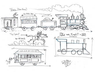 Draw Trains by Diana-Huang
