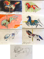Carousel Horses 1994 by Diana-Huang