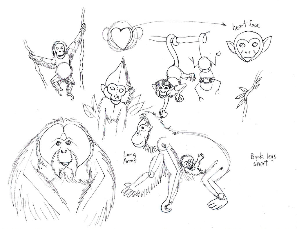 draw monkeys and apes 2 by diana huang on deviantart