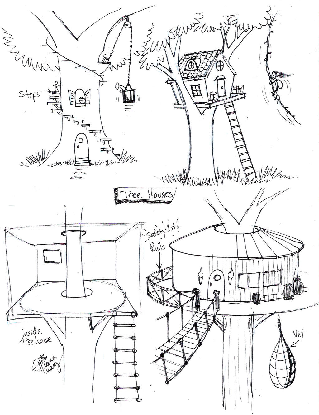 draw tree house by diana huang on deviantart