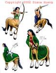 More Centaur Character Designs