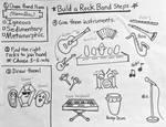Build a Rock Band instruction sheet