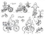 Draw People on Bicycles and Tricycles