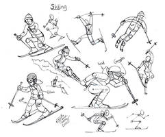 Draw Skiing by Diana-Huang