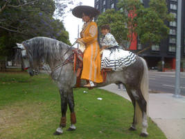 Vaquero Lady and Girl 2010 by Diana-Huang