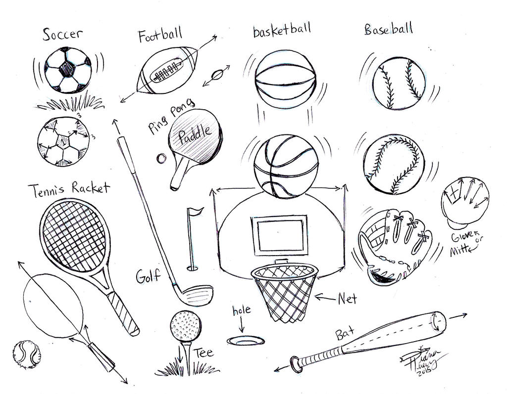 sports draw balls drawing balones dibujos huang diana drawings deviantart deporte dibujo deportes