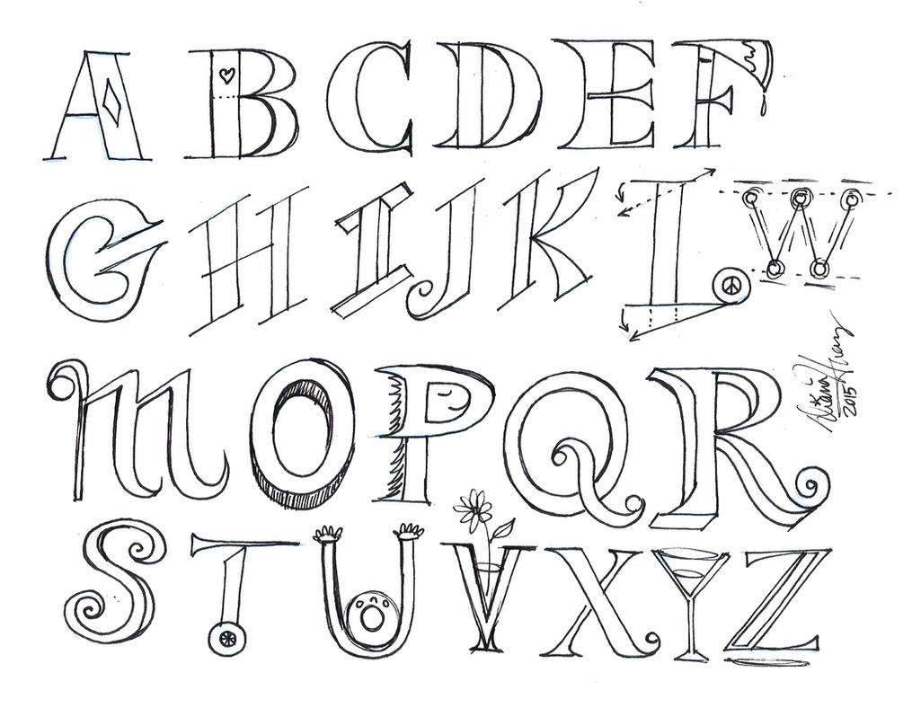 Printables Drawing Letters drawing alphabet letters abtd download