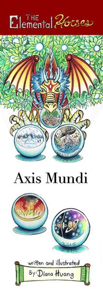 The Elemental Horses Axis Mundi Bookmark