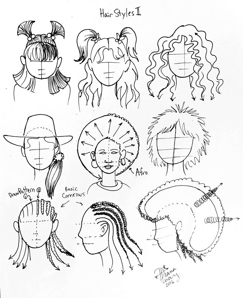 Draw more hairstyles by diana huang