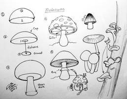 Draw Mushrooms