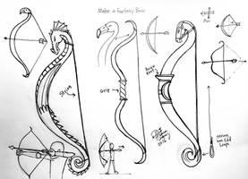 Draw/Make a Fantasy Bow by Diana-Huang
