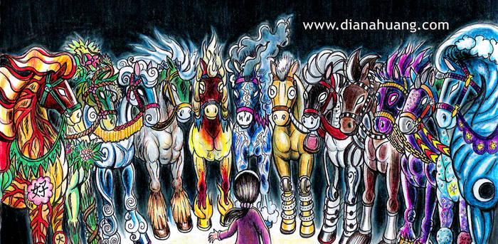 12 Horses Mug