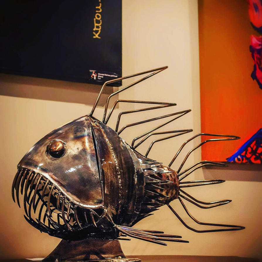 Metal Fish by Diana-Huang