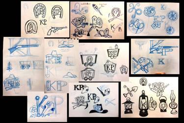 KP logo drawings by Diana-Huang