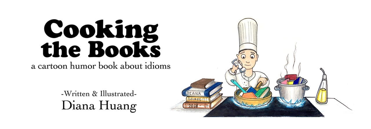 Cooking the Books Bookmark and Mug design