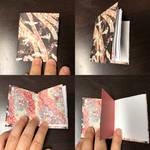 Fancy Origami Print Tiny Book Idea