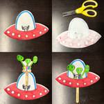 UFO for Paper Puppets