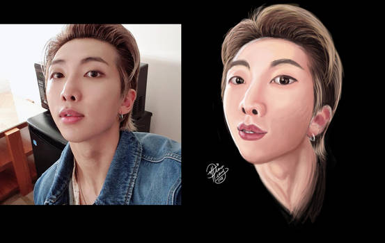 Namjoon RM of BTS Portrait Study