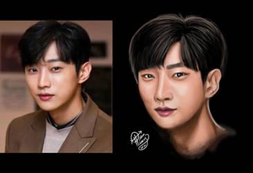 JinYoung of B1A4 Portrait Study WIP