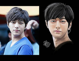 Myungsoo L of Infinite Portrait Study WIP