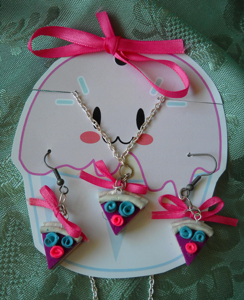 Mini Cake Jewelry Set by ButterflyInDisguise on DeviantArt