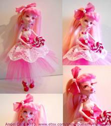 Sugar MH Draculara Repaint Custom Doll by ButterflyInDisguise