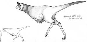 The Bear-like Oviraptorosaur by Cephlaken