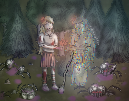 Fanart Don T Starve Wendy And Abigail By Fionna303 On Deviantart