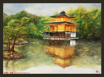 Kinkakuji Temple - Kyoto, Japan. by Myrinihanna