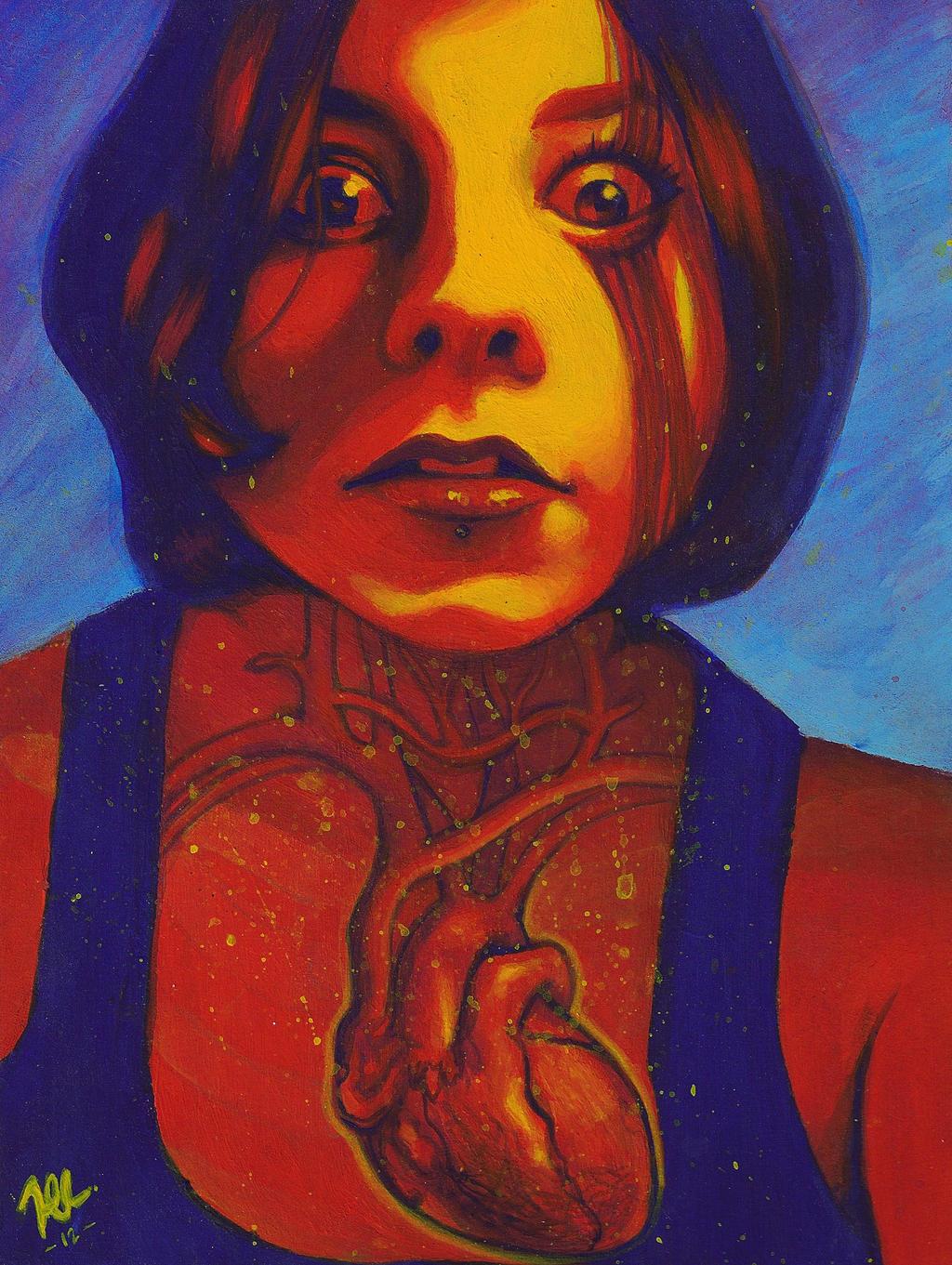 Explosive Self-Portrait by Myrinihanna
