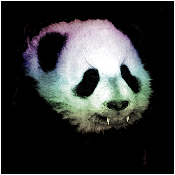 Rainbow Vampire Panda by Darkest-Eliot on DeviantArt