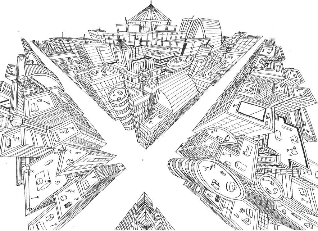 3 Point perspective city by Chianina on DeviantArt