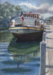 Barge at Samois-sur-Seine..