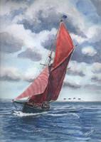 Sailing trawler `Boy Leslie`..
