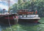 Barges at Samois-sur-Seine..